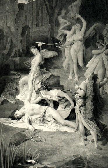 orpheus slain by thracian women